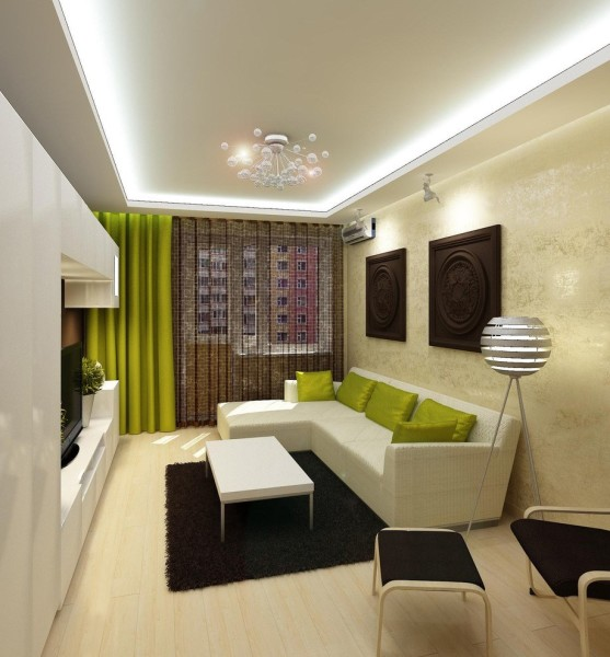 Интерьер в гостиной 18 кв.м